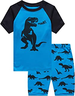 Family Feeling Little Boys Train 2 Piece Pajamas Shorts 100% Cotton 18 Months- 14 Years