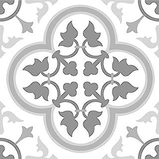 FloorPops FP2953 Remy Peel & Stick Floor Tiles, Grey, 10 Square Feet