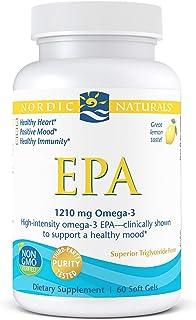 Nordic Naturals EPA, Lemon - 60 Soft Gels - 1210 mg Omega-3 - High-Intensity EPA Formula for Positive Mood, Heart Health &...