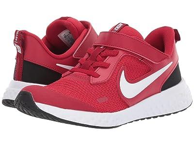 Nike Kids Revolution 5 (Little Kid) (Gym Red/White/Black) Boys Shoes