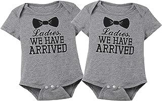 Baby Boys Girls 2 Piece Cute Creeper Twins Long Sleeve Bodysuit