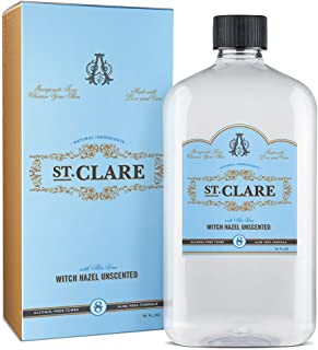 St Clare Alcohol Free Witch Hazel 16 ounce. Unscented Aloe Vera Natural Toner for Face and Skin