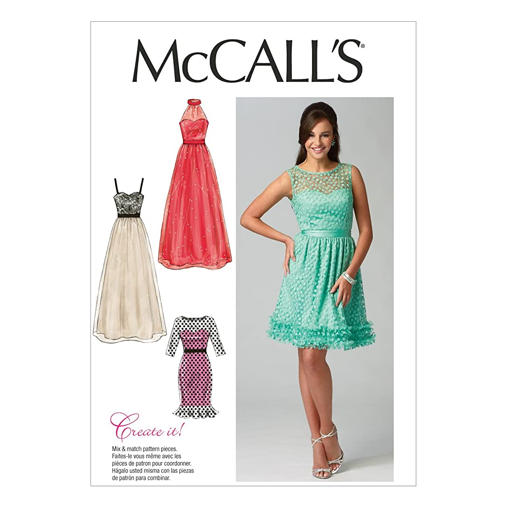 McCall Pattern Company M6893 Misses' Dresses Sewing Template, Size B5 (8-10-12-14-16)