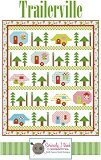 "Trailerville Quilt Pattern by Kelli Fannin Quilt Designs from Seriously I Think it Needs Stitches KFQP127-72"" x 86"" Vintage Trailers"