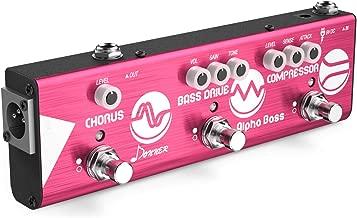 Donner Mini Effect Chain Alpha BASS Guitar Effect Pedal Compressor Bass Drive Chorus Effect Pedal