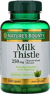 Nature's Bounty Value Size Milk Thistle 250mg 200 Gelatin Capsules