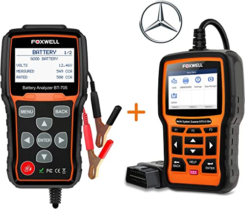 popular FOXWELL outlet sale BT705 Automotive Battery Tester popular with OBD2 Scanner for Mercedes-Benz Diagnostic Scan Tool online