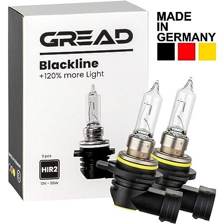 Gread 2x Hir2 Halogen Lampen 120 Das Perfomance Set Blackline Auto
