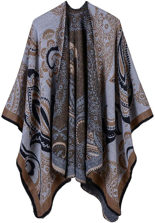 Scarves In Autumn and Winter, Tapered Shawls, Doublepurpose Cloaks Women's Elegant Cardigan Shawl, Winter Autumn Coat