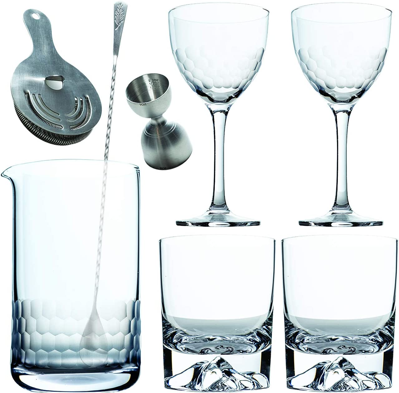Amehla Cocktail Mixing Popular Glass 5 ☆ popular Bar Kit: Set T 8 Piece with