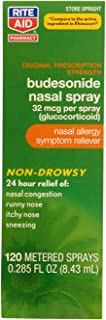 Rite Aid Budesonide Allergy Nasal Spray - 120 Metered Sprays | Allergy Relief Nasal Spray | 24-Hr Non-Drowsy Allergy Relie...