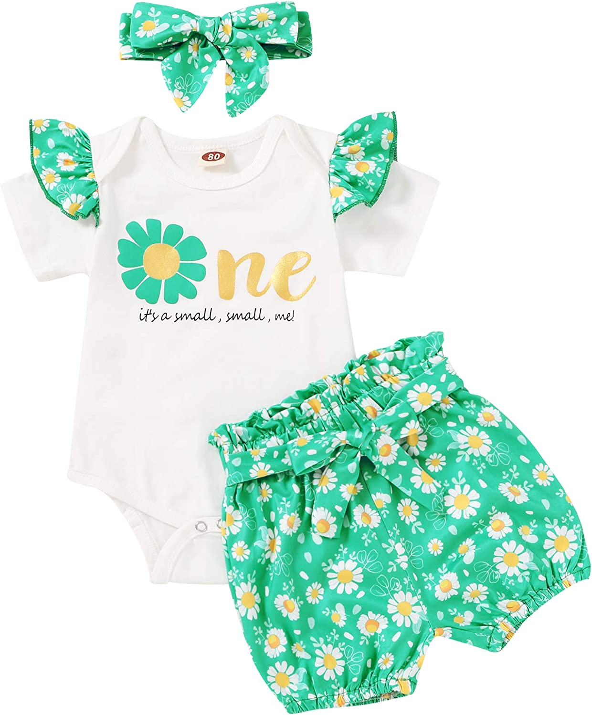 Tiny Gorgeous Cutey Newborn Baby Girls Summer Clothes Sleeve Short Max 56% OFF Ru Set