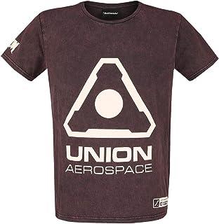 DOOM UAC Logo Uomo T-Shirt Bordeaux Regular