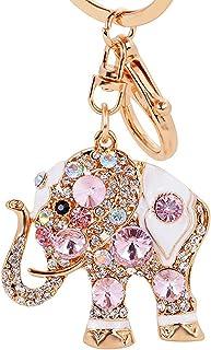 Colorido Colorful Rhinestone Cute Elephant Car Key Chain Keyring Bag Purse Charm Pendant