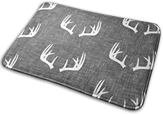 Antlers Texture Doormat Non Slip Bath Rugs Highly Absorbent Thick and Durable Microfiber Bathroom Rug for Tub Shower Kitchen.(15.8 X 23.6 Inch)