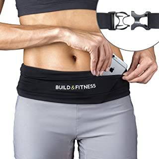 Build & Fitness Running Belt, Adjustable Waist,...