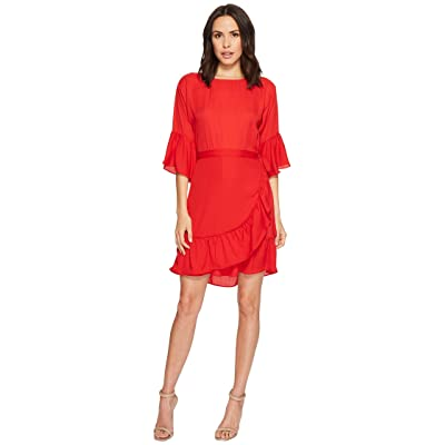 B Collection by Bobeau Astrid Apron Dress (Rio Red) Women