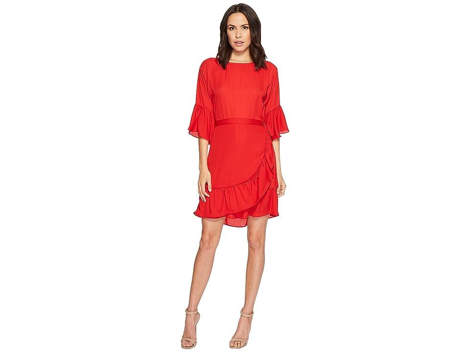 B Collection by Bobeau Astrid Apron Dress (Rio Red) Women