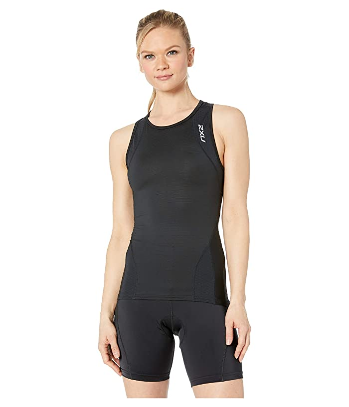 2XU Perform Tri Singlet (Black/Black) Women