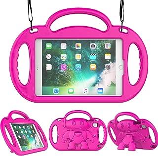 LEDNICEKER Kids Case for iPad Mini 1 2 3 4 5 - Light Weight Shockproof Handle Friendly Kids Case with Built-in Kickstand & Shoulder Strap for iPad Mini, Mini 5 (2019), Mini 4, Mini 3, Mini 2 - Rose