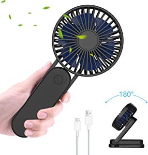 ITSHINY Plegable Mini Ventilador de Mano, Ventilador USB, Ventilador de Escritorio, Ventilador Portátil, Ventilador de Mesa Ventilador de 3 velocidades Ventiladores Recargable USB para Viajes Oficina