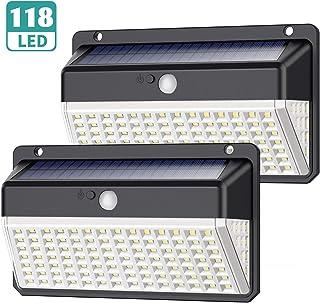 comprar comparacion Luz Solar Exterior 118 LED, Yacikos Nueva Versión de Ahorro de energía Verde -1000LM Foco Solar Exterior con Sensor de M...