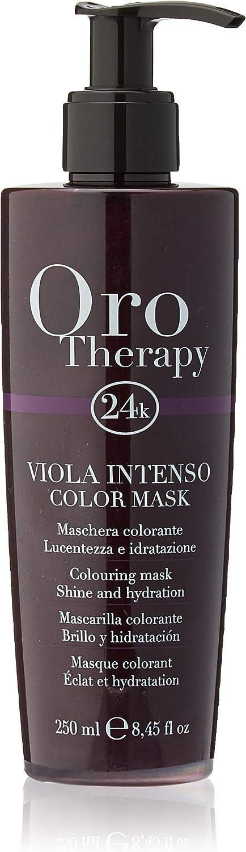 Fanola - Mascarilla colorante profesional Oro Therapy 24 K, aporta brillo, hidrata, aviva color y ayuda a iluminar reflejos, 250 ml, 250ml marrón