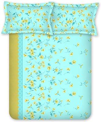 Bombay Dyeing CelebratingIndia 210TC 100% Cotton One Double Size(220x240Cm) Bedsheet with 2 Pillow Covers - FIROZI