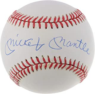 Mickey Mantle New York Yankees Autographed Vintage OAL Baseball - BAS Graded 8 A75326 - Beckett Authentication