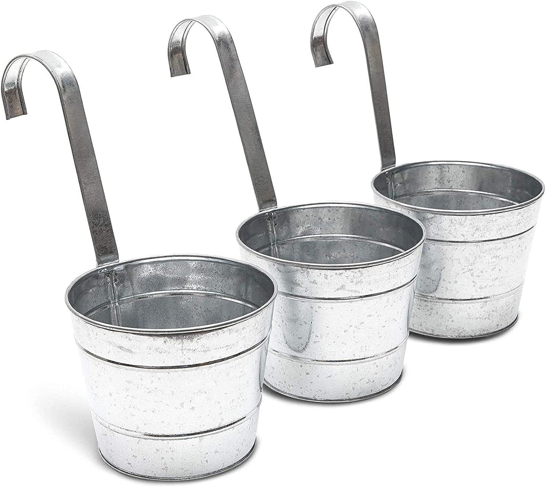Metal Bucket Planter Hanging Planters 6 Luxury Pack 3 in High order