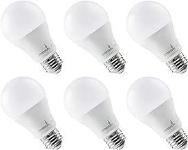Hyperikon LED Light Bulb, 100 Watt (14W), A19 LED Bulb, 3000K, Non Dimmable, E26, UL, 6 Pack