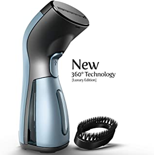 iSteam Steamer for Clothes - Luxury Edition - Upgraded with 360° Technology Spill-Proof [MS208 Blue]