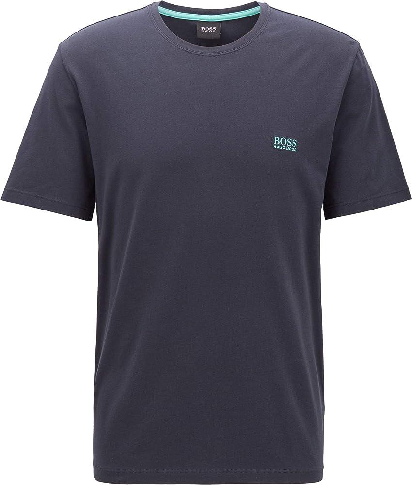 Hugo boss mix&match t-shirt, maglietta per uomo a maniche corte, 95% cotone, 5% elastan, BLU3 50381904H
