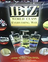 IBIZ World Class Everything Wax KIT (Super Value) Includes: Car Wash, Car Wax, Waterless Wash &Wax, Metal Polish and Applicator