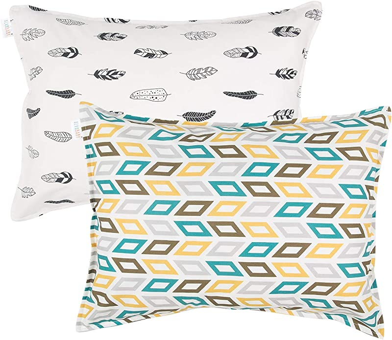ALVABABY 2 Pack Toddler Pillowcase 100 Organic Cotton Soft And Light For 13 X18 Or 12x 16 Kid Pillow Cover Baby Shower Gift For Boys And Girls 2FTP02