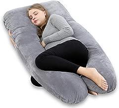 AngQi Full Body Pregnancy Pillow - U Shaped Maternity Pillow for Pregnant Women - with Velvet Body Pillow Cover