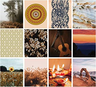 Wall Collage Kit Aesthetic - Boho Collage Kit 12 Prints 8x10 inch Set - Perfect Photo Collage Kit for Wall Aesthetic | Aes...
