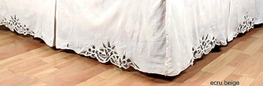 思われる相談するリスBattenburg Lace Bedskirt Dust Ruffle TWIN Beige 100% Cotton