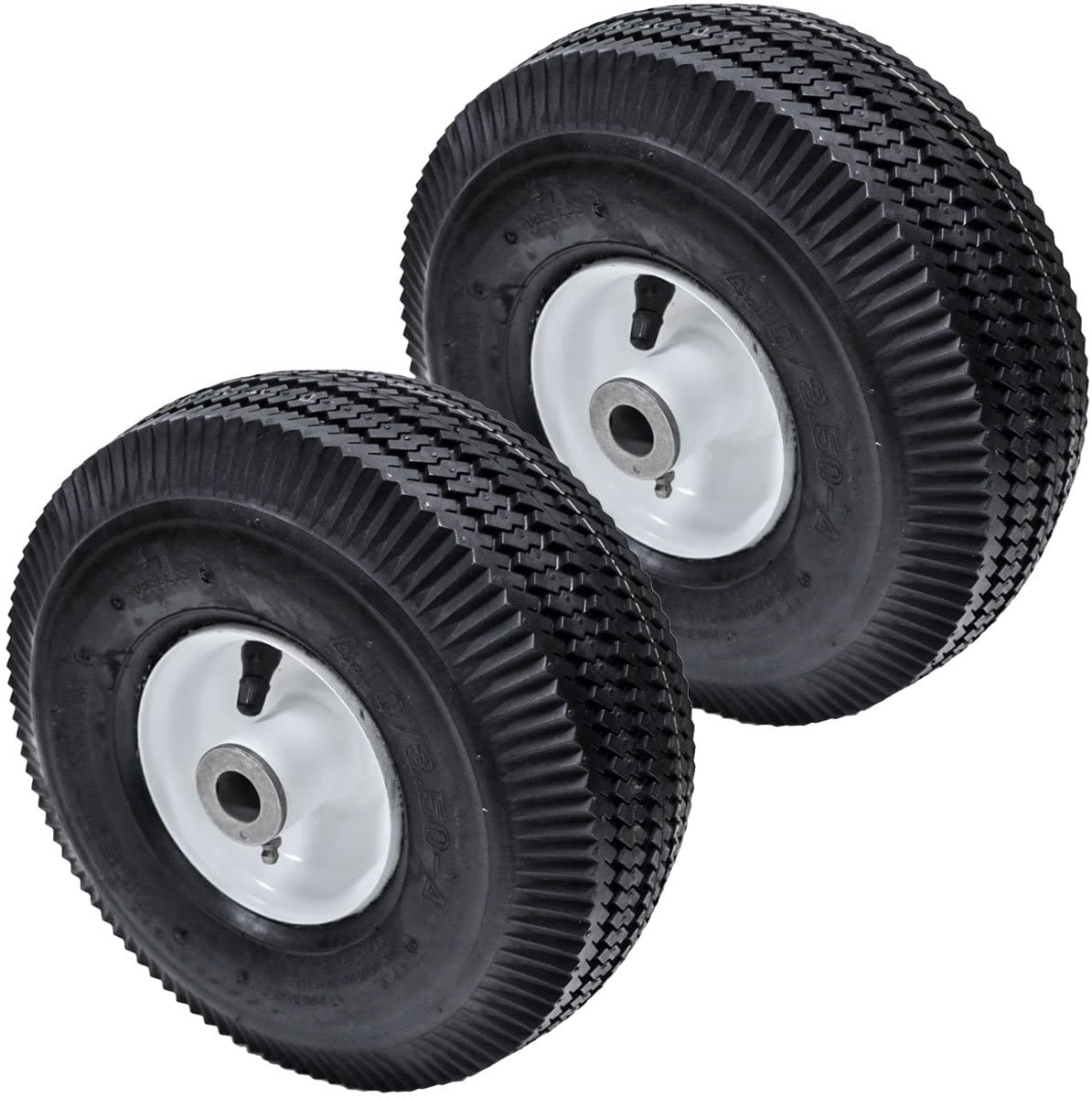 2PK Flat Free Front Wheel Mail order cheap Tire for Ranking TOP11 4.10 Z 3.50- Time Cutter Toro
