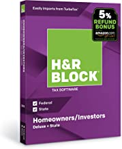 [OLD VERSION] H&R Block Tax Software Deluxe + State 2018 with 5% Refund Bonus Offer [Amazon Exclusive] [PC/Mac Disc]
