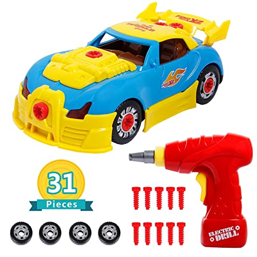IFixer Take Apart Race Car Toy For Kids Birthday Gift Present 31 Pieces Upgraded Educational