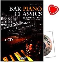 Bar Piano Classics–20famosos Canciones–Fácil hasta medio Arreglados–Ordenador libro de Michael gundlach con CD y Bunter herzförmiger Ordenador Pinza