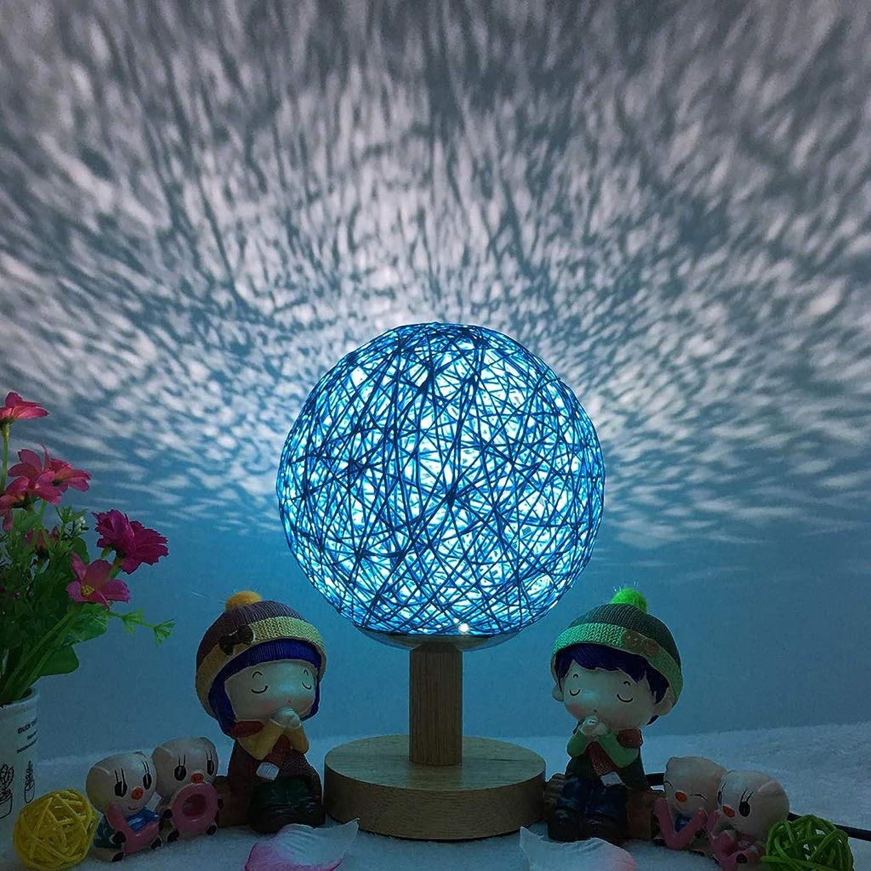 Ich whle Ich akzeptiere Nachtlichtgeburtstagsgeschenk des romantischen Sternprojektors des Nachtsterns kreatives verdunkelnder Schnurkugelrattanballtischlampe hohe Spalte (Farbe   6)