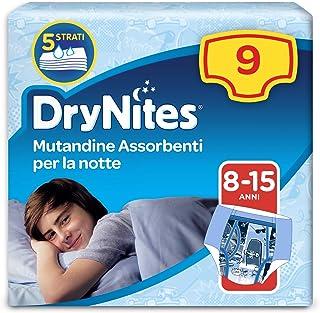 Huggies DryNites Pyjama Pants, Boys, Size 8-15 Years (9 Pack)