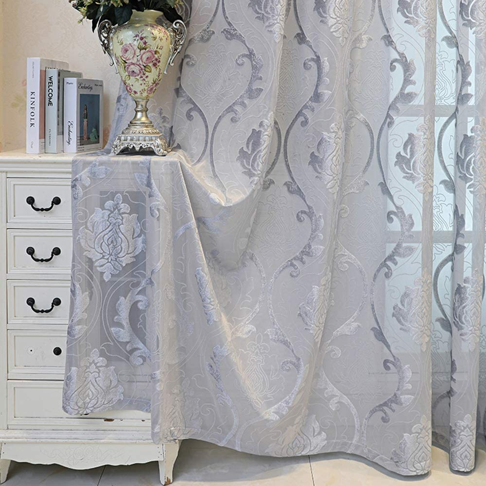 pureaqu Extra Wide Solid Sliding Door お得セット Living ショップ Curtains for Sheer