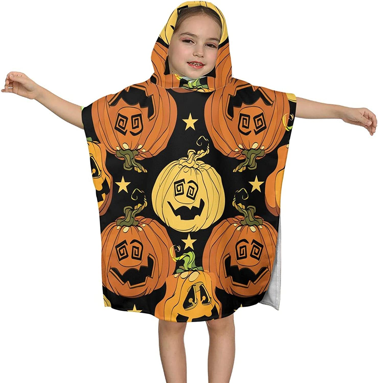 Hooded Bath Towel Pumpkins Smiling Max 67% OFF B Kids Soft Wrap Ranking TOP11