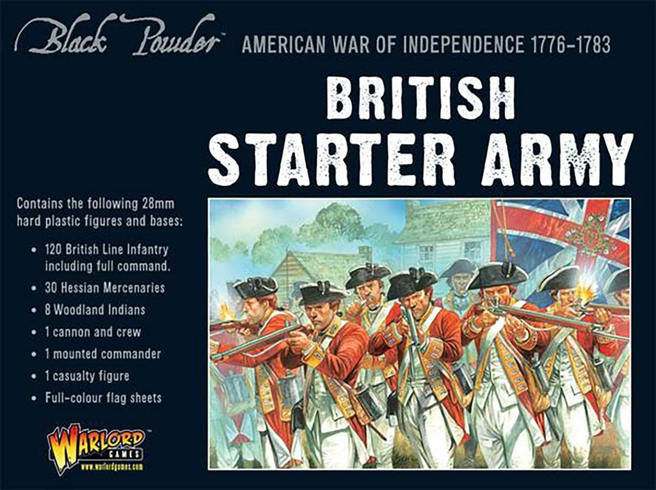 Black Powder American War of Starter British Army Independence Genuine Free Shipping New life