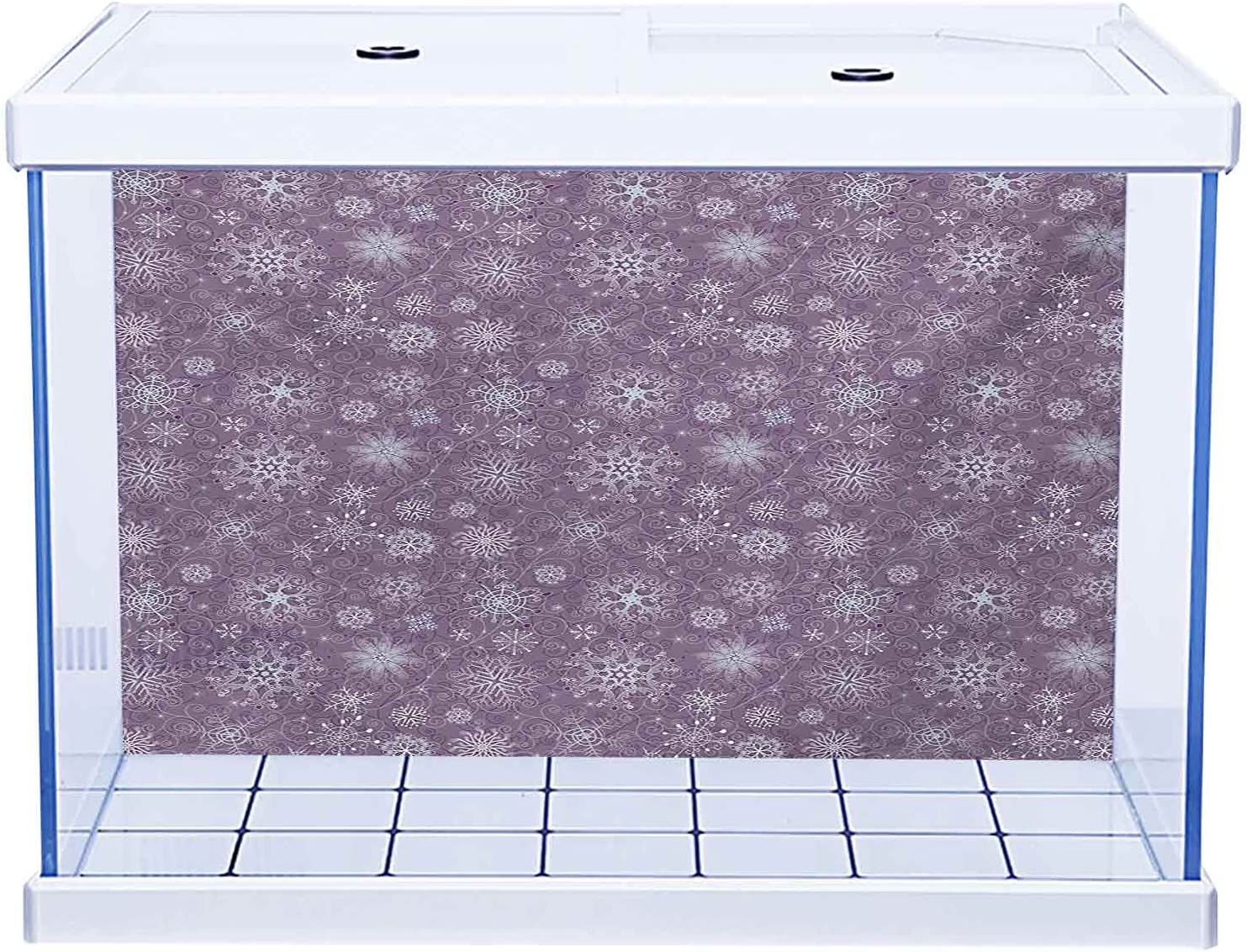 favorite Fish Tank Sticker Max 70% OFF Background Snowflake Themed Floral A Christmas