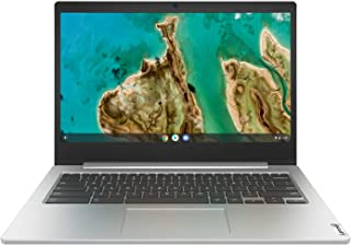 "Lenovo IdeaPad Slim 3 Chromebook, Intel Celeron N4020, 4GB RAM, 64GB Emmc, 14"" FHD, Chrome OS, Platinum Grey, 82C1000JAU"