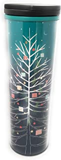 Starbucks 2018 Turquoise/Blue Whimsical Tree Acrylic Cup - 16 Ounce